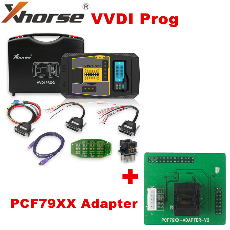 Программатор Xhorse VVDI PROG V5.0.1, оригинальный программатор VVDI, ключевой инструмент для BMW is, функция чтения, с адаптером PCF79XX