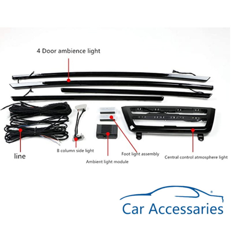 Car Interior Decorative Led Ambient Door Light Stripes Atmosphere Light With 8 Colors For BMW 3 Series F30 2013-2019