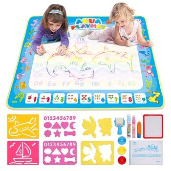 Kids Doodle Mat Magic Water Drawing Mat  3 Pens  Stamp magic writing Water Painting Drawing Writing Board Educational Toys kid water drawing mat doodle board