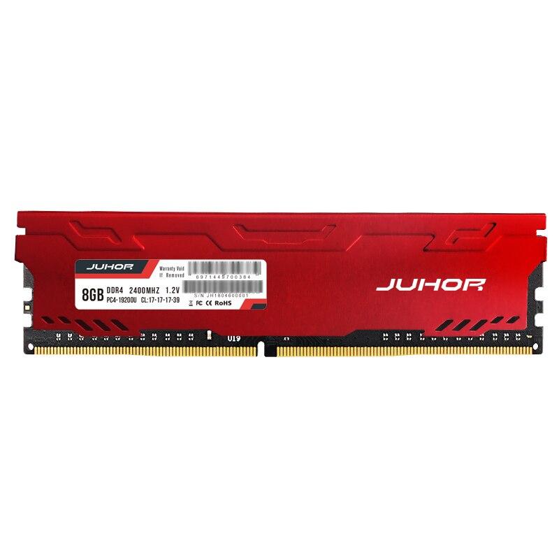 JUHOR memoria ram ddr4 16GB 4GB 8GB  32GB Desktop Memory  udimm 2133mhz 2400mhz 2666mhz New dimm rams with  Heat sink 2
