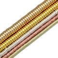 JHNBY розовое золото Серебристые плоские круглые монеты гематит 3/4/6/8 мм натуральный камень разделители свободные бусины для самостоятельног...