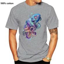 Camiseta de pulpo para hombre, a la moda camisetas negras, camisetas de Hip Hop, camiseta de manga corta de algodón puro con cuello redondo, suéter 3D, gran oferta