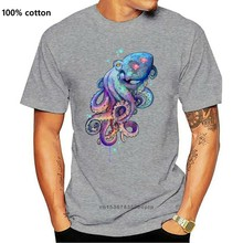 Vendita calda T-shirt uomo polpo T shirt alla moda nero top Hip Hop Tees manica corta in puro cotone girocollo TShirt maglione 3D