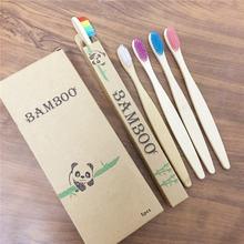 5 упаковок Бамбуковая зубная щетка мягкая щетина Экологичная