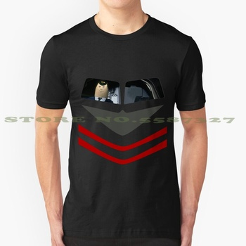 Otto Pilot - Airplane! Black White Tshirt For Men Women Airplane Leslie Nielsen Otto Autopilot Emergency Comedy Movie Parody image