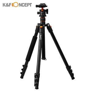 Image 1 - K&F CONCEPT Portable Camera Tripod Stand Aluminum Aolly 4 Section 63.4in/161cm with Panoramic 360° Swivel Ball Head for DSLRs