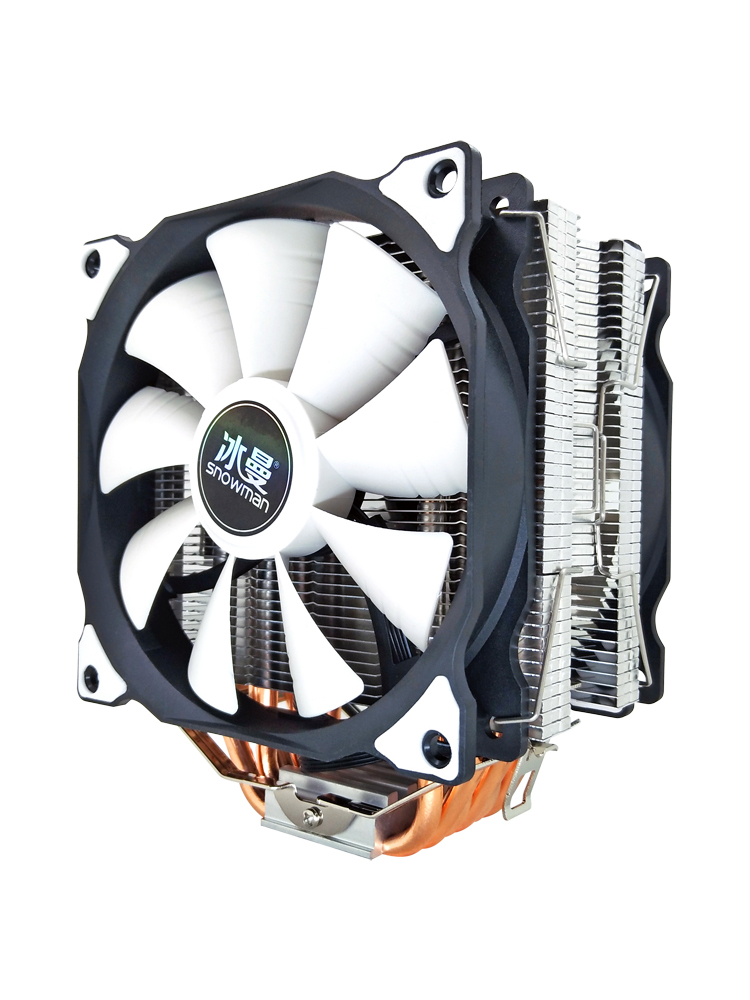 SNOWMAN CPU Cpu-Cooling-Fan Heat-Pipes Quiet 1155 AM3 AMD 120mm 1151 Cooler 6 Intel Lga 1200