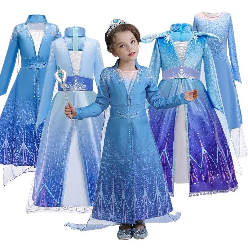 Enfants robes pour filles 4 6 8 10 ans enfants fête jeu de rôle vêtements manches longues princesse Costume pour les filles