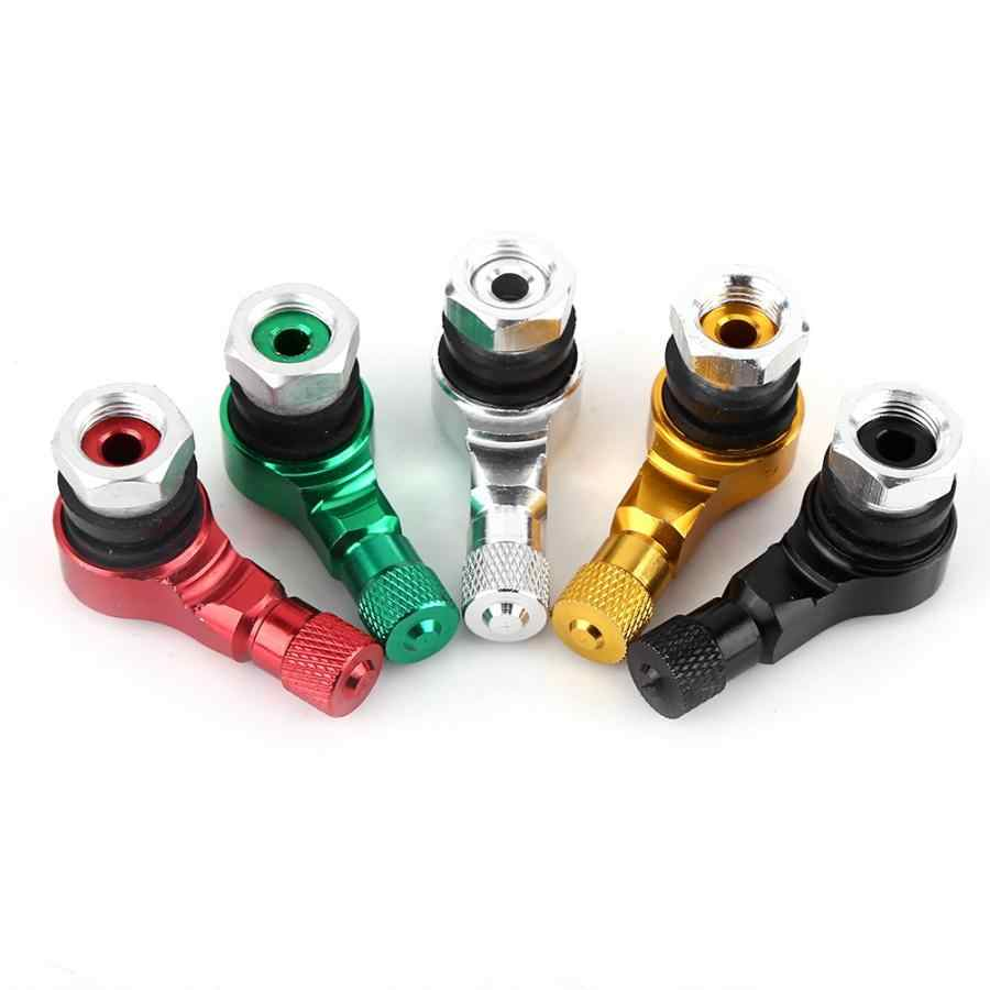Green 90 Degree Angled Tire Valve Caps Valve Stems Cover Adapter for Car Motorcycle Bike Scooter