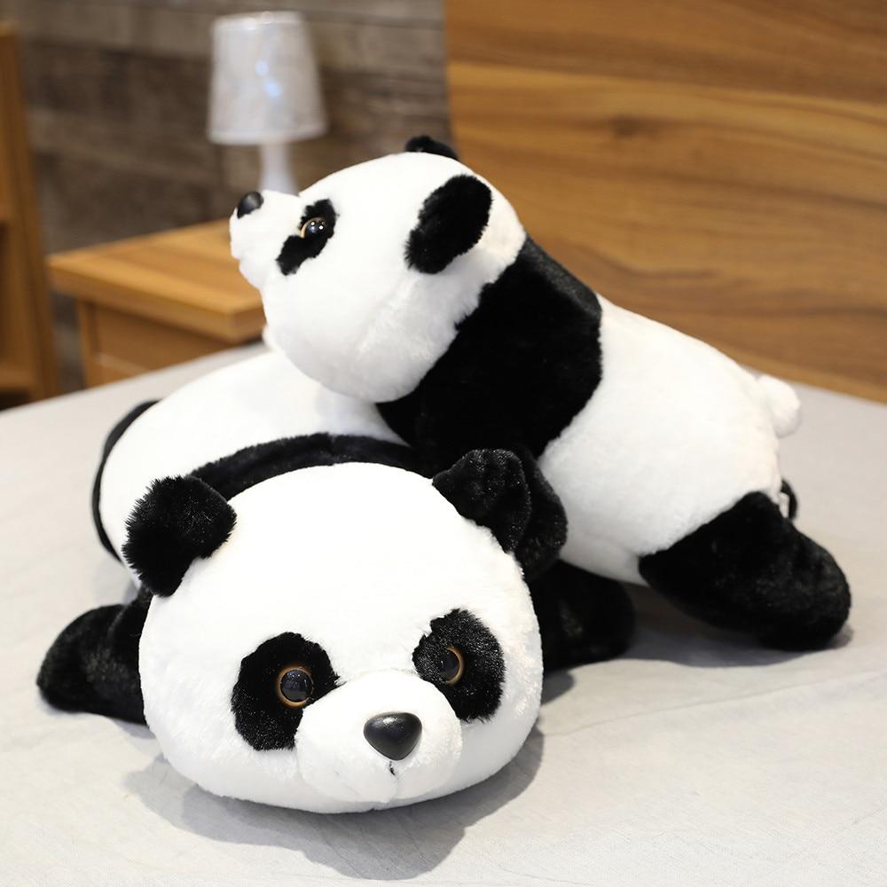 Cute Giant Panda Bear Plush Lie Prone Posture Stuffed Animal Doll Toy Pillow Cartoon Kawaii Dolls Girls Lover Gifts Just6F