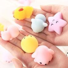 Squishy zwierząt zabawki antystresowe Slimy zabawki do ściskania śliczne antystresowe piłka Abreact miękkie lepkie Stress Relief śmieszne zabawki dla dzieci