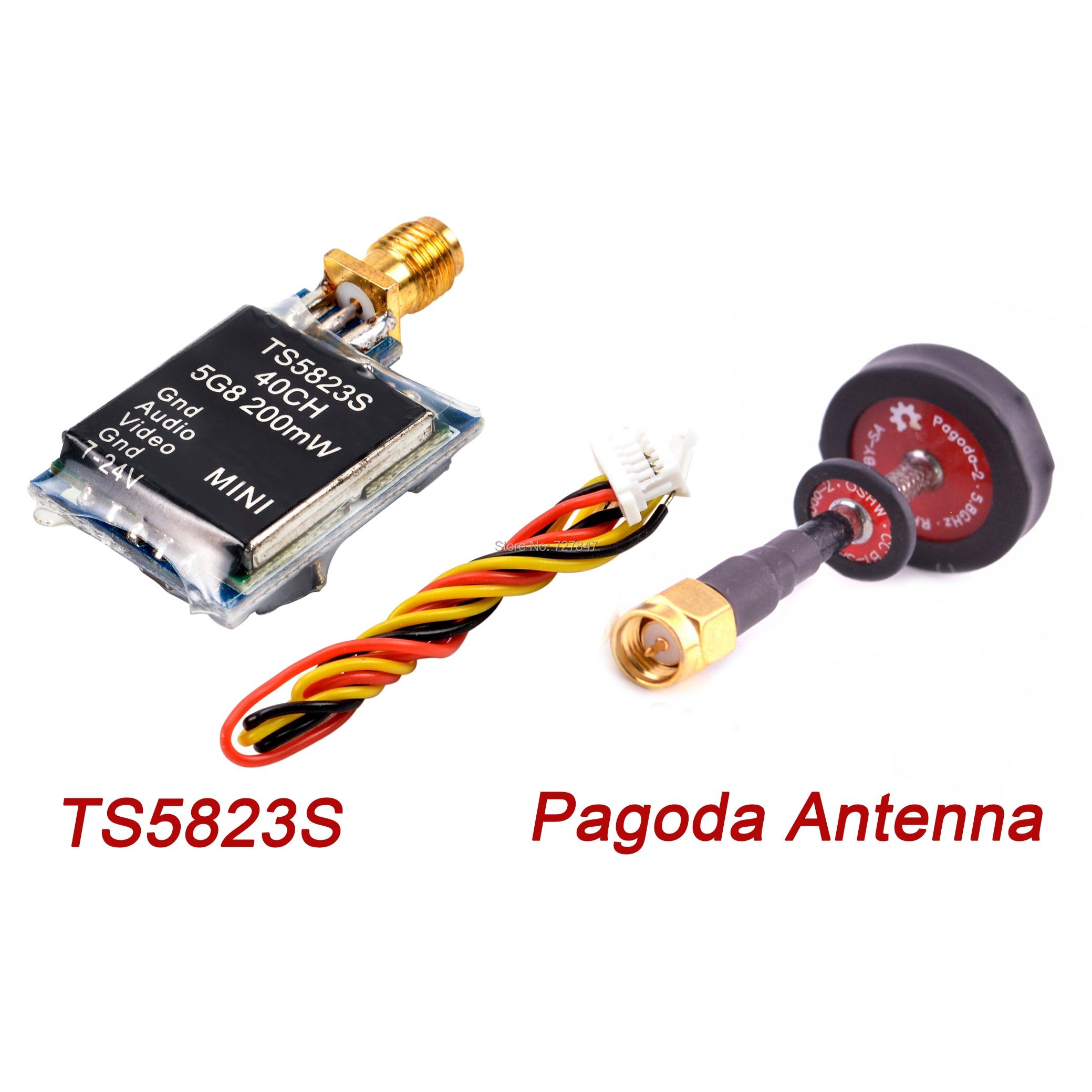 TS5823S TS5823 5.8G 200mW 40CH Mini AV Wireless Transmitter For Multicopter FPV Racing Drone