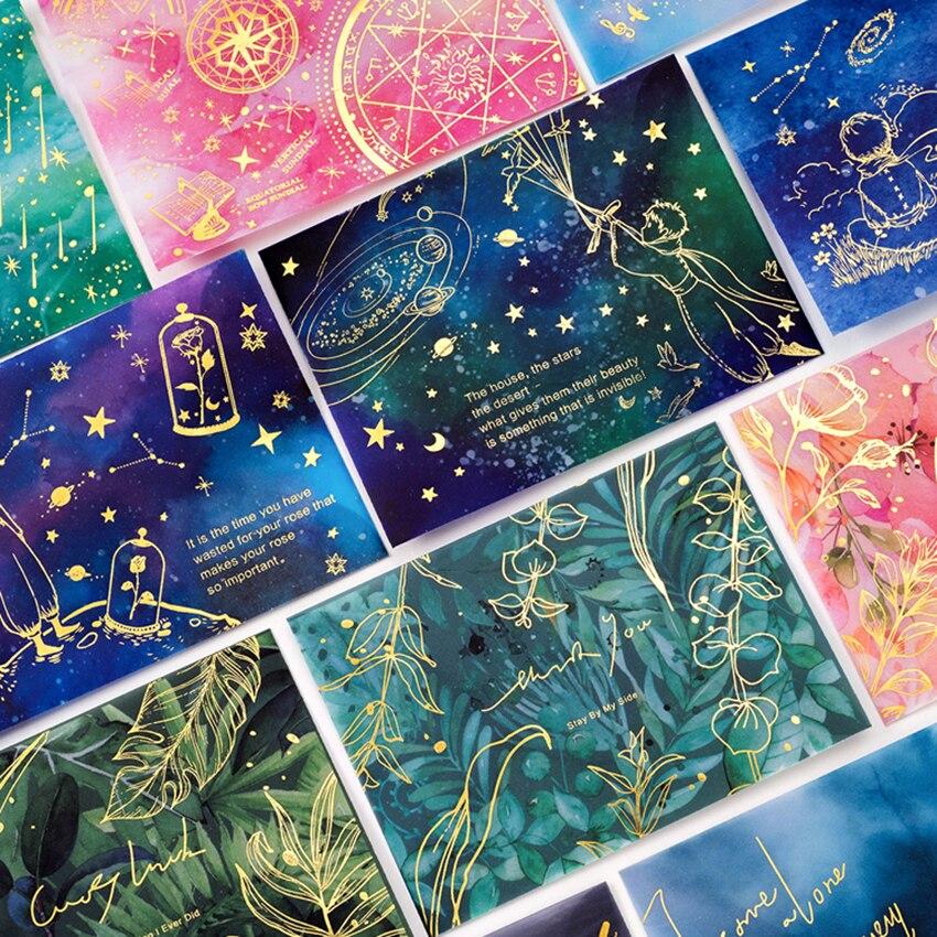 3PCS/ Set Bronzed Sulfuric Acid Paper Envelope Translucent Matte Starry Little Prince Letter Greeting Card Invitation Envelope