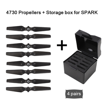 For DJI Spark Accessories 4730 Foldable for DJI Spark Propeller Quick-release Blades Props + Storage Case for DJI Spark Drone фото