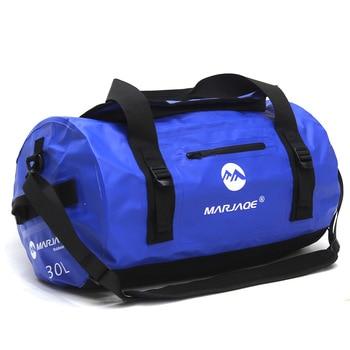 Bolsa de PVC impermeable para exteriores de 30/60/90L, bolsa de almacenamiento para Rafting canoa Canoa kayak río Trekking natación bolsa de viaje