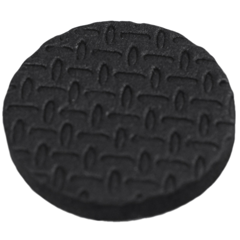 18 Pcs Black 2.5cm Diameter Nonslip Table Chair Leg Felt Cushion Pad