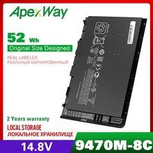 Batería de ordenador portátil de 14,8 v para HP EliteBook Folio 9470/9470m, Ultrabook Series HSTNN DB3Z, BT04XL, BA06, IB3Z, I10C, BT04