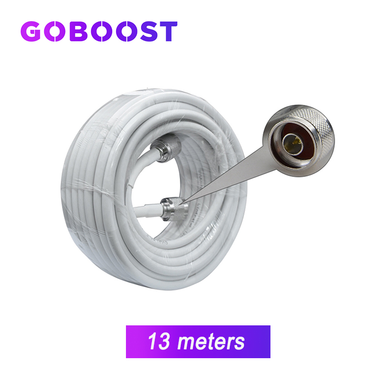 5D Coaxial Cable Low Loss 4G 3G 2G 13 Meters Connector For Cellular Communication Signal Amplifier Network Cellphone Booster /