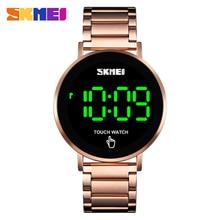 SKMEI Men Digital Watch Touch Screen Stainless Steel Strap Watch