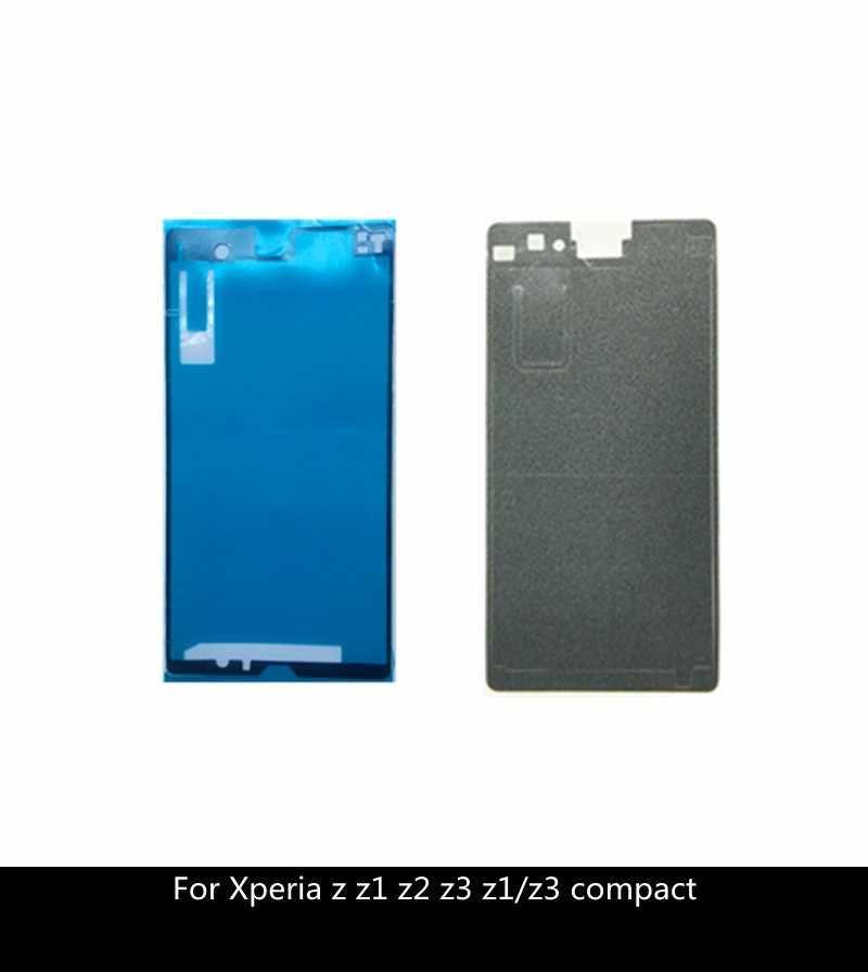 الجبهة الخلفي لاصق الغراء مجموعة كاملة الشريط ملصق لسوني اريكسون Z Z2 Z1 Z3 المدمجة LCD الإسكان الإطار الخلفي غطاء باب البطارية