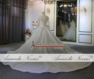 Image 3 - Heavy beading long sleeves wedding dress off white color custom order high quality bridal dress