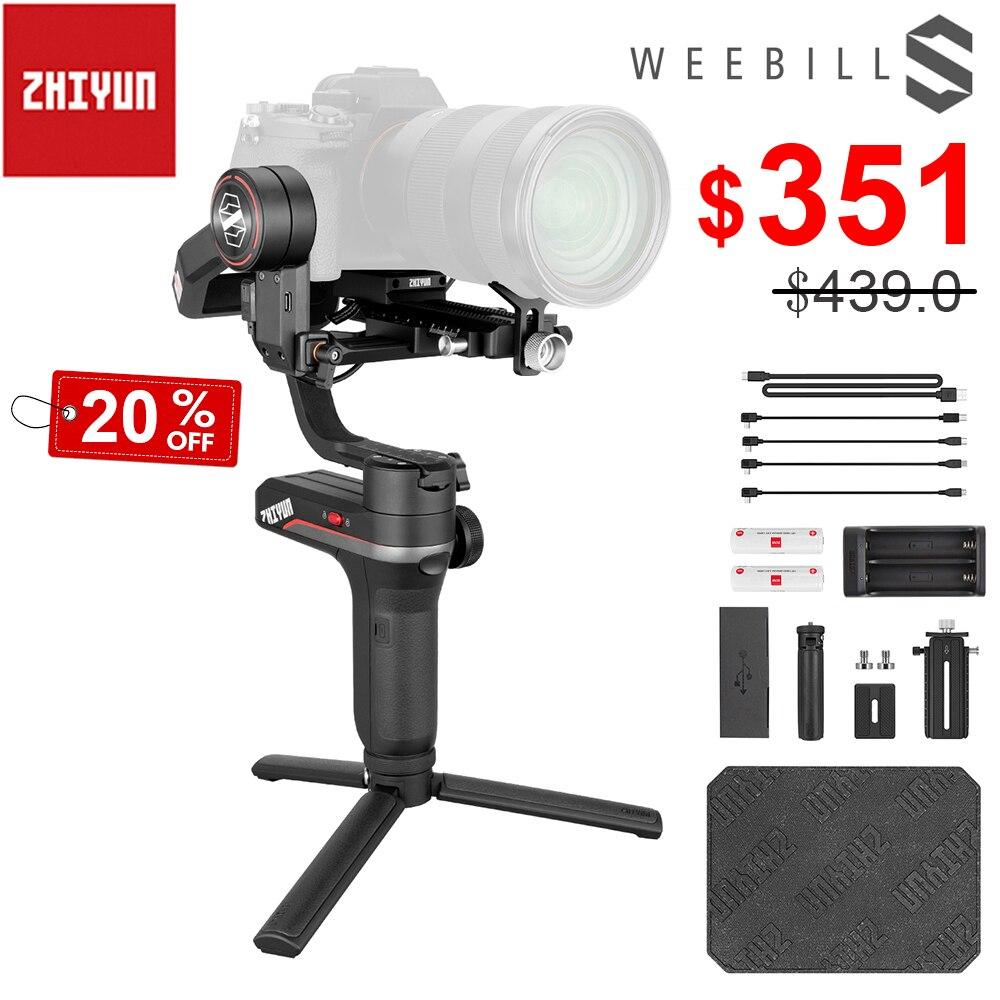 Zhiyun Weebill S stabilisateur de cardan Portable à 3 axes affichage OLED pour Canon EOS R A7III A7M3 Z6 Z7 S1 appareils photo sans miroirCardan à tenir à la main   -