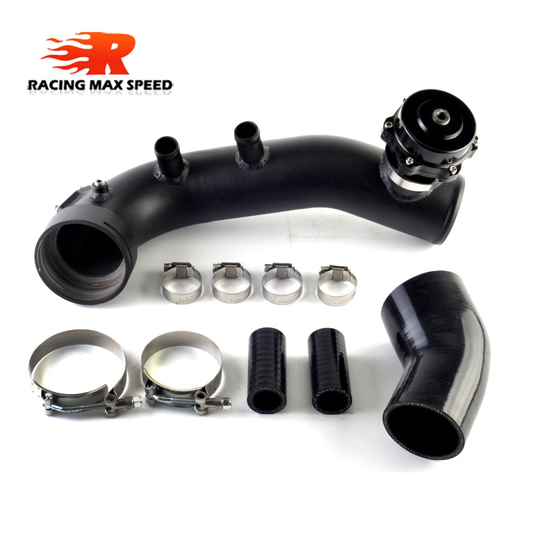 <font><b>intercooler</b></font> intake turbo hose Aluminum Replacement Charge pipe with BOV suit for BMW <font><b>N54</b></font> E82 E88 135i <font><b>335i</b></font> 335is E90 E92 E93 image