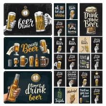 Пиво время пива вечерние металлическая жестяная вывеска табличка