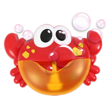 Original Outdoor Bubbles Kids Toys Frog Crabs Bathroom Automatic Bubble Maker With Music Toys For Children Bathtub Soap Machine цены