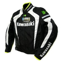 New Arrival men for kawasaki jacket winter automobile race clothing motorcycle jacket clothing thermal removable liner flanchard