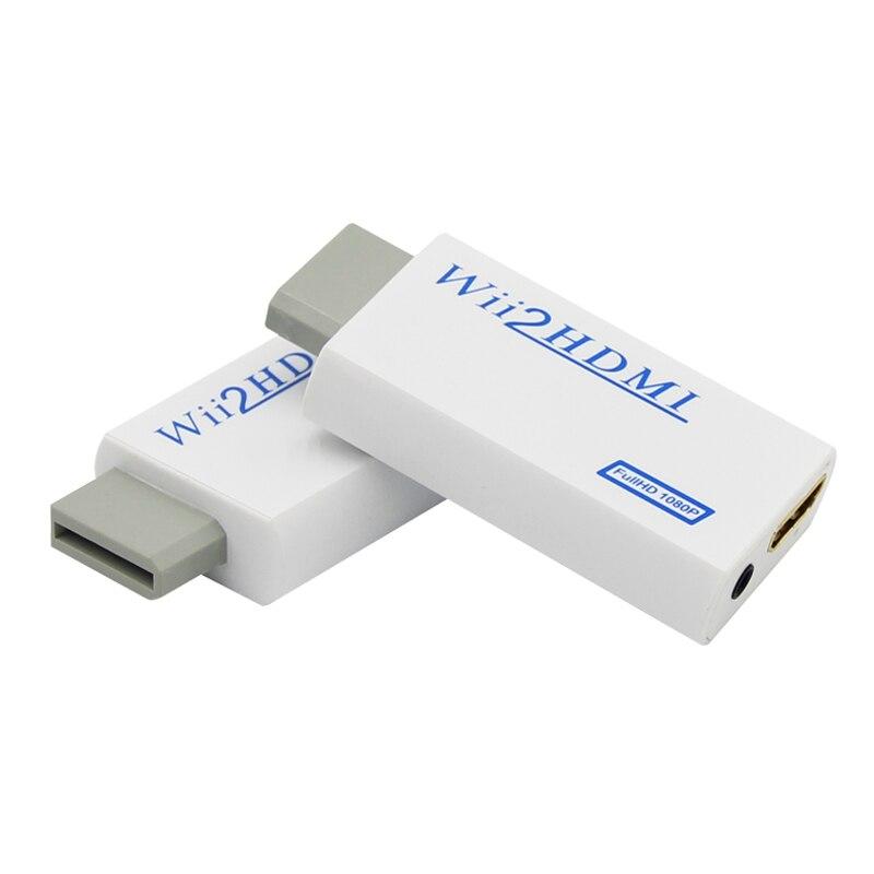 Venda quente suporte 720 p 1080 p original para wii para hdmi adaptador conversor 3.5mm de áudio para hdtv wii2hdmi