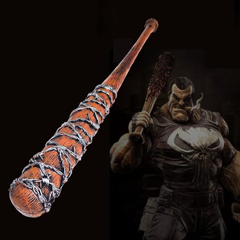 Outdoor Indoor Game Fun 83cm Cosplay Game Movie Walking Dead Bat Baseball Stick Nigen Lucille Baseball Bat  Pu Model Toy Prop