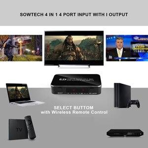 Image 4 - Kebidu Hdmi Splitter Schakelaar 2.0 4K Hdmi 2.0 Switch 4X1 4 In 1 Out Hdmi Switch Audio extractor Met Arc Voor Nintend Hdtv Voor PS4