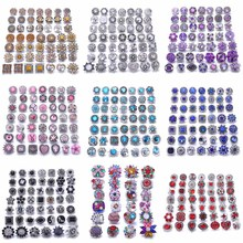 10pcs/lot New 12MM 18mm Snap Jewelry Rhinestone Mini Metal Snap Buttons fit 12mm 18mm Snap Bracelet Bangle Earrings Necklaces 20pcs 50pcs lot kcd4 31 25mm 4pin 16a 250v snap in dpst on off position snap boat rocker switch copper feet