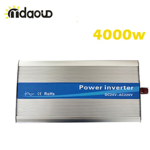 цена на FREE SHIPPING LED Display Off Grid Inverter 5000Watt/10000W/5KW 12/24/48VDC to 110/220VAC Pure Sine Wave Power Inverter CABLES