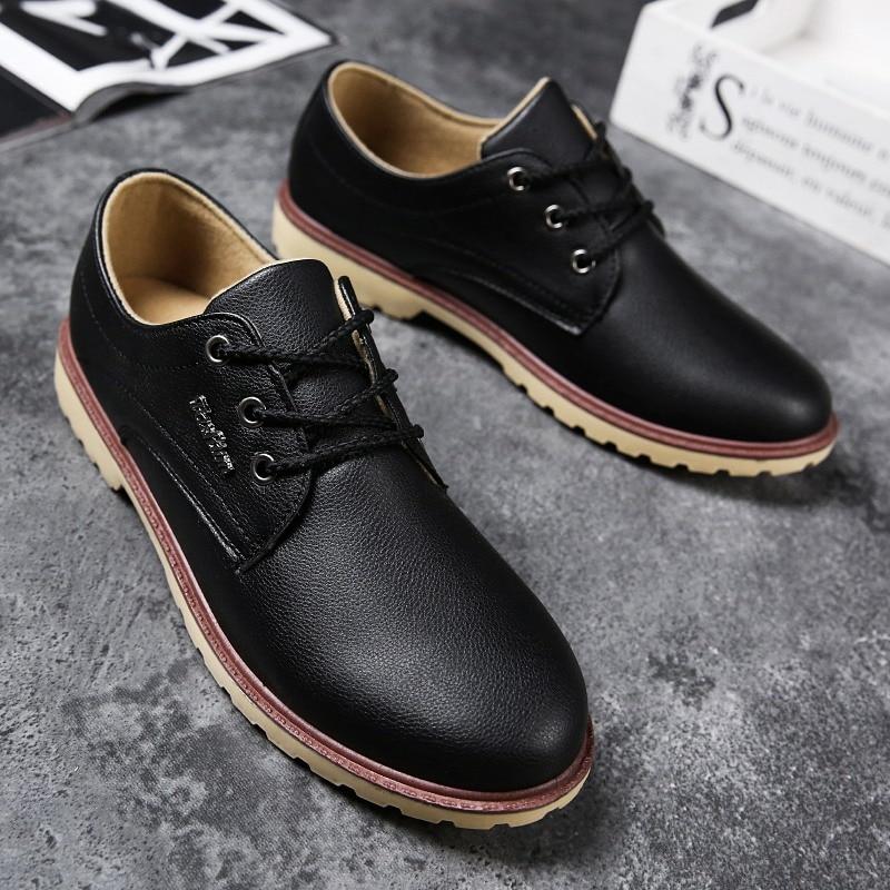 2019 Осенняя мужская кожаная обувь; Повседневная рабочая обувь; Нескользящая дышащая водонепроницаемая обувь; женская официальная обувь; Муж