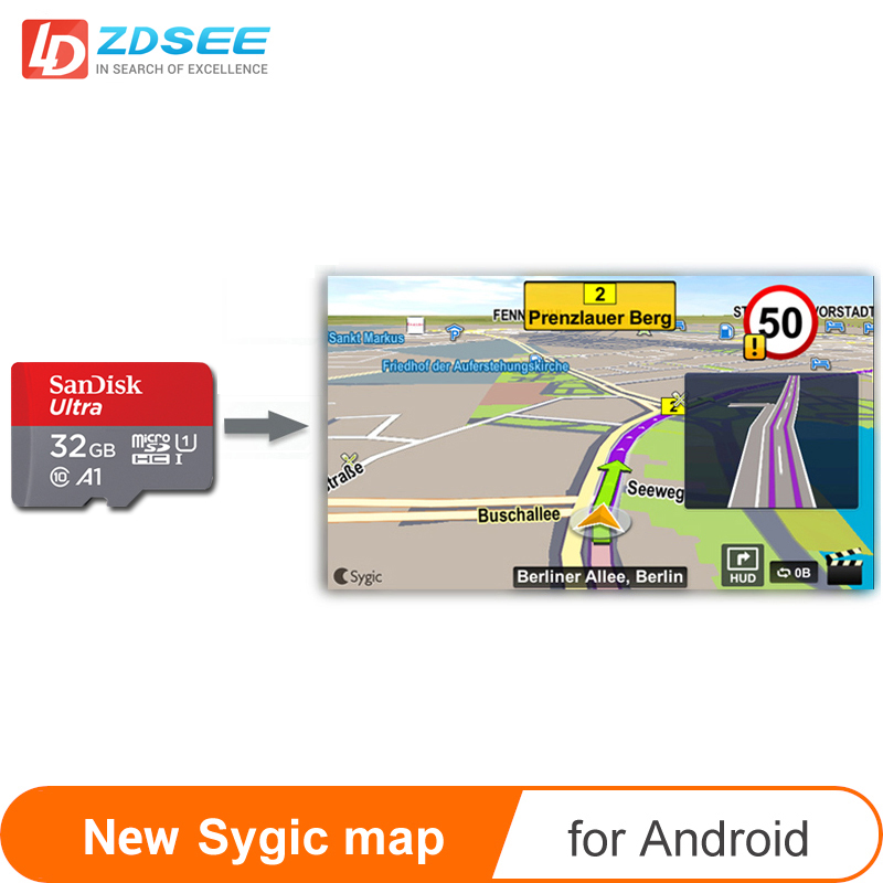 Car GPS map micro SD card 32GB for Sygic Map Andriod system Navigation radio New Map free update Europe Russia spain middle east