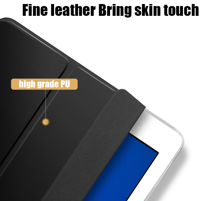 """Tablet case for Samsung Galaxy Tab A 10.1"""" 2019 Leather Smart Sleep wake funda Trifold Stand Solid cover capa for SM-T510/T515-2"""