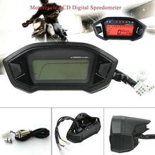Мотоцикл цифровой спидометр ЖК дисплей одометр тахометр водонепроницаемый