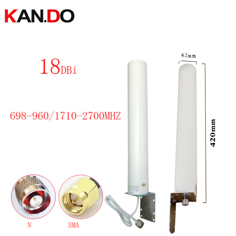 Gain 18dbi 42cm Length 697-2700Mhz Outdoor 2G 3G 4G Antenna For Repeate Router Antenna Repeater 4G LTE Modem Antenna N Female