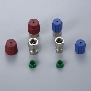 Image 4 - Straight Adapters w/ Valve Core & Service Port Caps R12 R22 to R134a Retrofit Parts Kit Conversion Adapter Valve