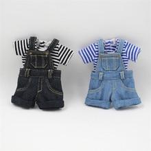 Outfits für Blyth puppe Denim overalls für die 12 zoll puppe JOINT körper kühlen dressing 1/6 BJD ICY DBS