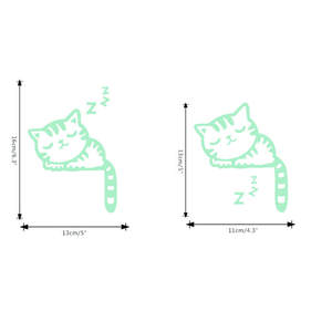 Switch Sticker Room-Decoration Glow-In-The-Dark Creative Cartoon Cat Kitten Cute 1pc
