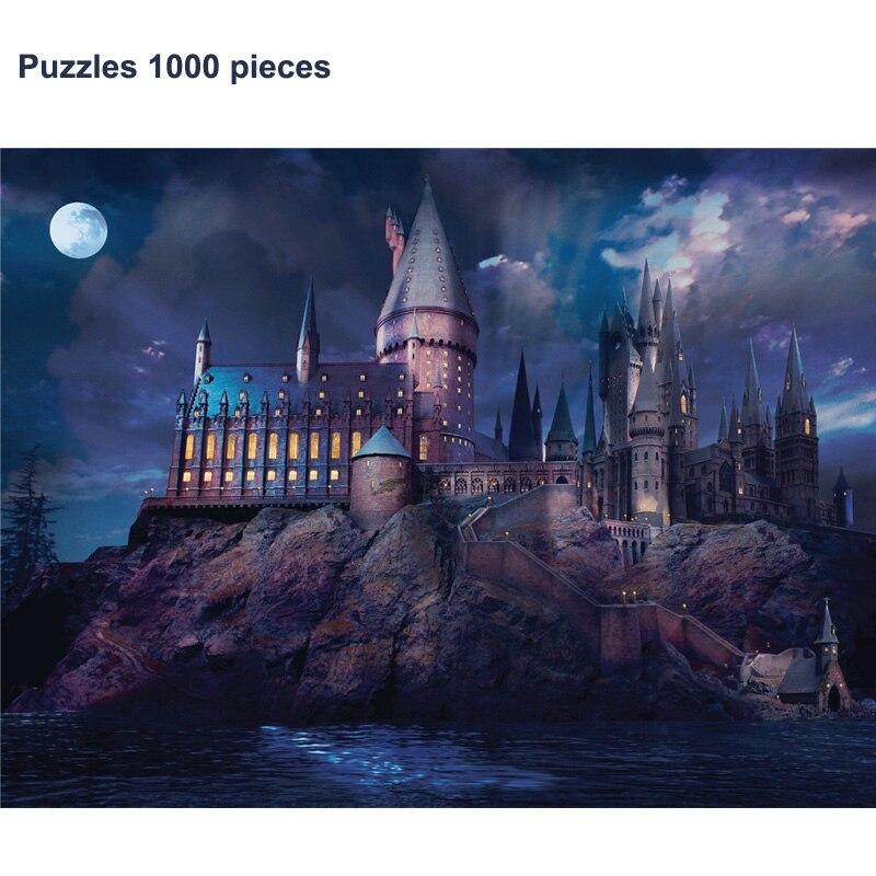 Супер жесткие Пазлы 1000 штук бумага волшебный замок дух животное пейзаж Сделай Сам творчество вечерние игрушки для пазлов подарки для взрослых