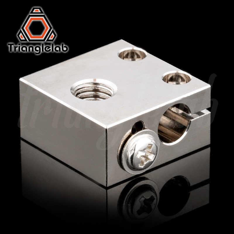 Trianglelab Swiss CR10 Tembaga Berlapis Panas Blok untuk CR10 Hotend Cr-10 Hotend untuk MK8 Nozzle Bmg Extruder Ender3 Cr-10s