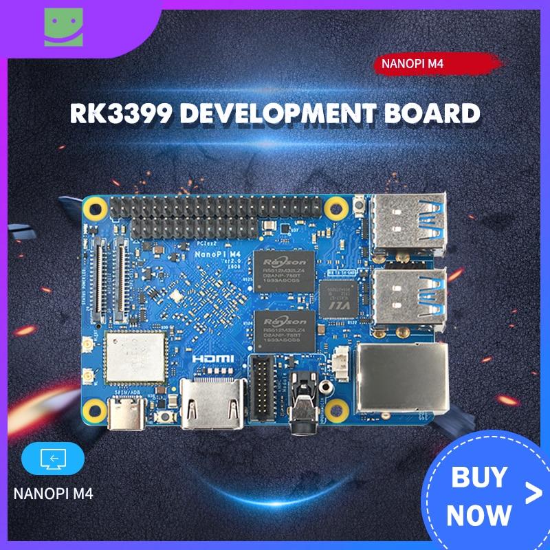 RK3399 Development Board NanoPi M4V2 Dual-Band WiFi Dual Camera 4G Memory 4K Playback Android 8