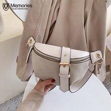 Mode chaîne Fanny Pack banane taille sac nouvelle marque ceinture sac femmes taille Pack PU cuir poitrine sac ventre sac