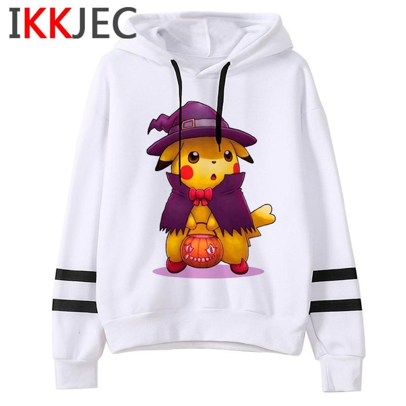 Pokemon Go Funny Cartoon Warm Hoodies Men/women Cute Pikachu Japanese Anime Sweatshirts Fashion 90s Steetwear Hoody Male/female 14