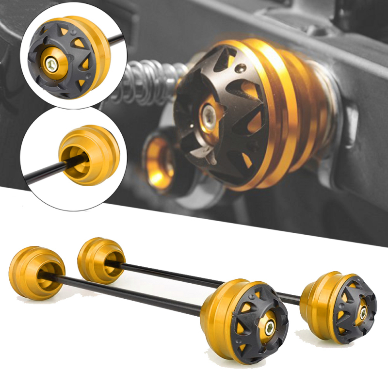 MTKRACING Front and Rear Axle sliders Fork wheel protection Crash pad kit For TMAX t-max 500 530 / Tmax500 08-11 Tmax530 12-16