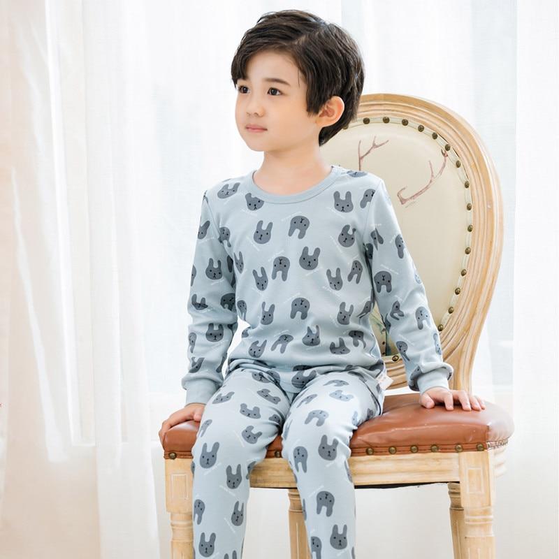 Autumn winter toddler pajamas for boys cotton baby long-sleeves children clothes sets cartoon sleepwear kids girls pyjamas